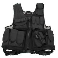 Black Deluxe Tactical Vest Standard