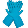 Liberty Glove 2886l/L Blue Latex Canners Glove Scalloped Cuff, Size Large (12 Pair)