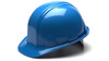 Pyramex HP14062 Standard SL Series Light Blue Cap Style Snap Lock Hard Hat (16 Each)