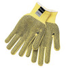 Memphis 9366L Dupont Kevlar Yellow 2-Sided PVC Dots Safety Gloves Size Large (1 Pair)
