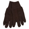 Memphis 7100P Brown Jersey Work Gloves All Cotton, Size Large