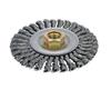 "Dynabrade 78808 - 4"" (102 mm) Dia. x .020 x 3/8""-24 UNF Roughneck Stringer Bead Twist Wire Wheel Steel"