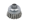"""Dynabrade 78823 - Knot Wire Cup Brush 2-3/4"""" (70 mm) Dia. x .020 x 5/8""""-11 UNC AH Stainless Steel"""