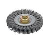 "Dynabrade 78804 - 4"" (102 mm) Dia. x .020 x 3/8""-24 UNF Standard Twist Wire Wheel Steel"