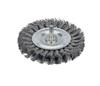 "Dynabrade 78877 - Knot Wire Wheel 3-1/4"" (83 mm) Dia. x .014 x 3/8"" Steel"