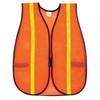 MCR Safety V211RXL Hi-Vis Vest Orange w/ Lime Reflective Stripes, Size XL (12 Pack)