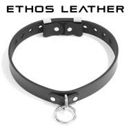Elegant Locking Latigo Leather Collar