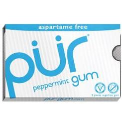 PUR Peppermint Aspartame Free Chewing Gum