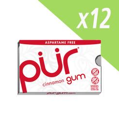 PUR Cinnamon Aspartame Free Chewing Gum Carton