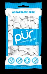 PUR Peppermint Gum 80g Bag