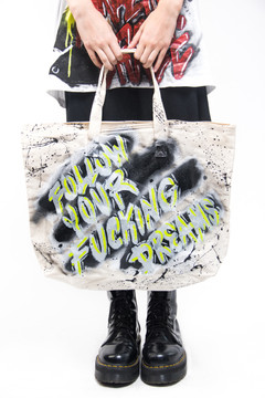 'FOLLOW YOUR FUCKING DREAMS' TOTE BAG