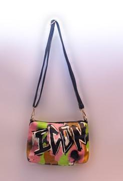'ICON' GRAFFITI SHOULDER BAG
