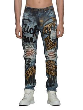 """""""Fuck Fear"""" Denim Jeans"""