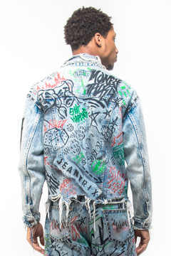 VANDALIZED HANDPAINTED DENIM JACKET