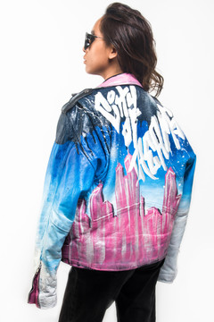 'CITY OF DREAMS' MOTO JACKET
