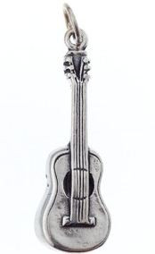 Charm/Pendant Sterling Silver Guitar