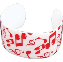Bracelet Cuff Notes White/ Red