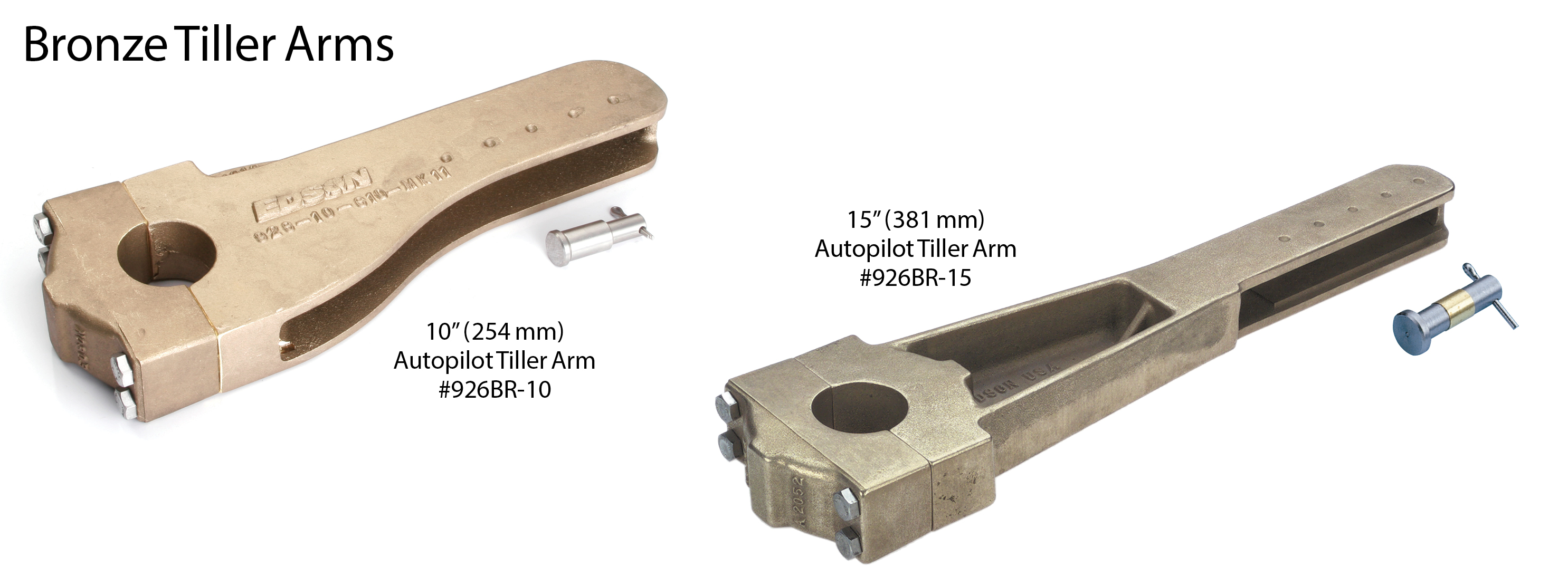 Bronze Tiller Arms
