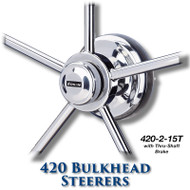420 Bulkhead Steerer - 15 Tooth Sprocket - Tapered Shaft (With Brake)