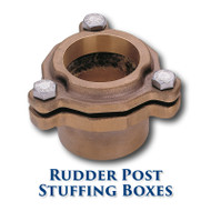 "Bronze Rudder Post Stuffing Box - 1.375"" ID"