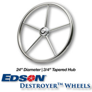 24-inch Stainless Steel Destroyer Wheel - 3/4-inch Tapered Hub