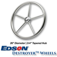 26-inch Stainless Steel Destroyer Wheel - 3/4-inch Tapered Hub