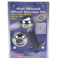 Wheel Storage Rail Mount Kit – Straight Hub with Quick Release Nut