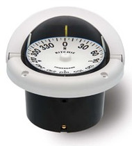 "Ritchie Helmsman Compass Flush Mount - White - 3-3/4"" Dial"