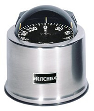 "Ritchie GlobeMaster Compass Pedestal Mount - Stainless - 5"" Dial"
