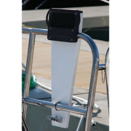 "Stern Rail Outboard Motor Mount - Aluminum for 1-1/4"" Railings"