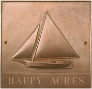 Chesapeake Bay Skipjack - Bronze Housemarker