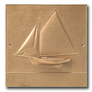 Friendship Sloop - Bronze Housemarker