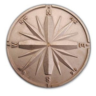 Compass Rose - Bronze Housemarker