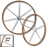 Teak Rim Sailboat Destroyer Wheel