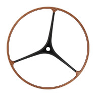 48-inch Tri-Spoke Teak / Holly / Carbon Fiber Sailboat Wheel