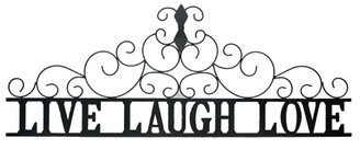 Live Laugh Love metal wall art large