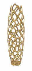 "Graolly Aluminum Gold Tone Vase 31"""