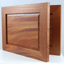 Red Cedar landscape frame. 20 x14.5 x 2 cm folded. The beautiful red coloration of the timber and the meticulous attention to detail make this a very desirable hand made object.
