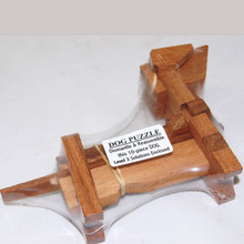 Wooden Dog Shaped 3D Puzzle