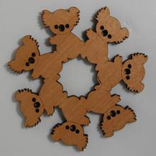Wooden Koala Teapot Trivet made from a variety of Australian native Timbers.
