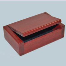 Red Cedar Flip top box. Great for business cards or small trinkets. handmade Australia.