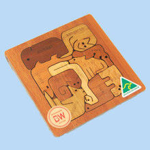 Australian animal jigsaw puzzle. Made in Australia