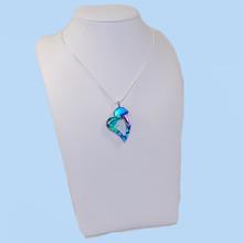 Dichroic glass heart pendant