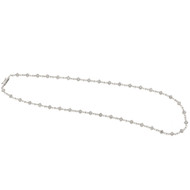 1950 Marquise Hinged Link 1.11ct Diamond Necklace 14k White Gold