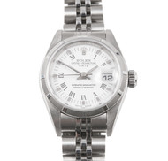 Ladies Rolex Steel Date 79190 White Dial