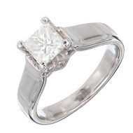 Estate Scott Kay 1.15ct Princess Cut Certified Platinum Diamond Engagement Ring