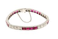 Ruby Diamond Platinum Bracelet