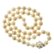 16 1/2 Inch Strand 6.5-6.9mm Japanese Akoya 53 Cultured Pearl Necklace 14k Catch