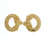 Antique Victorian 18k Gold Buckle Earrings Circa 1900