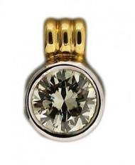Estate 1.95ct Transitional Brilliant Cut 18k EGL Diamond Donut Style Pendant